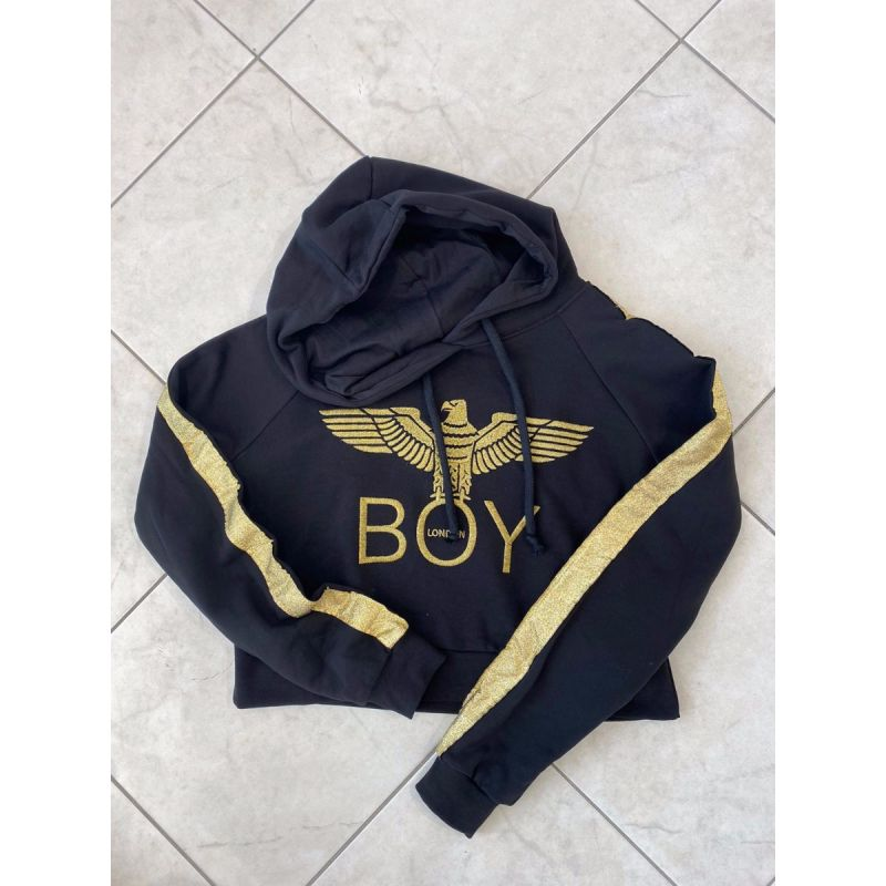 Felpa corta Boy London bande maniche oro
